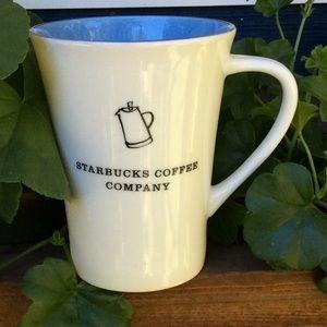 Starbucks 2006 white blue simple mug